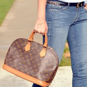 Authentic Louis Vuitton alma tote handbag